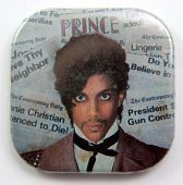 Prince - 'Headlines' Square Button Badge